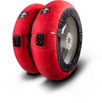 Capit Reifenwärmer ´Maxima Vision´ - vorne <120-17 + hinten <200/55-17 - rot