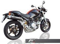 Zard exhaust system Top Gun 2-2, titanium with EG Ducati Monster S2R 800