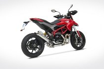 Zard silencer stainless steel short full kit 2-1 Ducati Hypermotard 821 (EG-ABE)