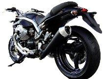Zard silencer slip-on 2-1 stainless steel, round, tapered, black EG+KAT Moto Guzzi Griso 850/1100