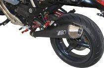 Zard silencer slip-on 2-1 stainless steel, round, tapered, black racing Moto Guzzi Griso 850/1100